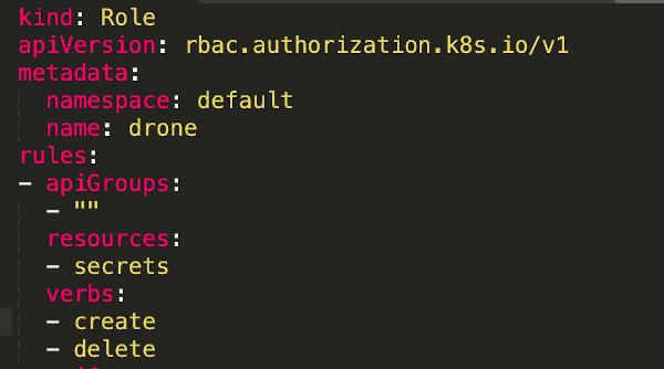 screenhot of YAML file code