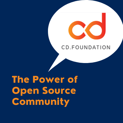 Talk title: The Power of Open source community and cdf logo