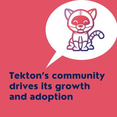 Talk title: Tekton's Community drives its growth and adoption and tekton logo
