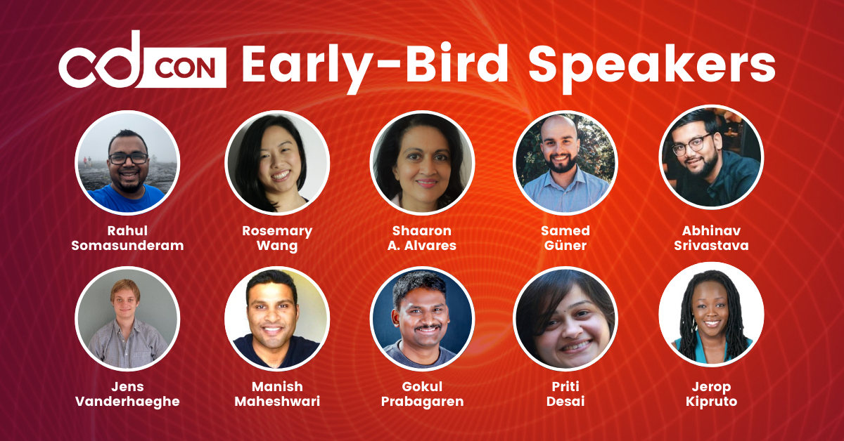 images of early-bird speakers cdcon 2021