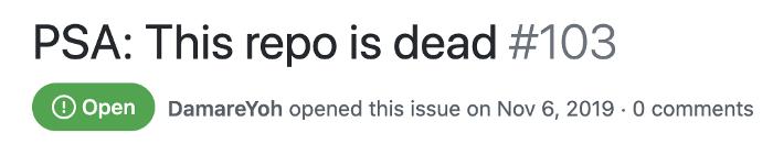 dead repo notice